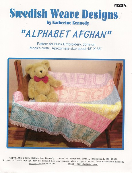 Swedish Weave Designs`` Alphabet Afghan``