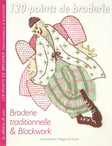Les clowns - 120 points de broderie-  Broderie traditionnelle et Blackwork