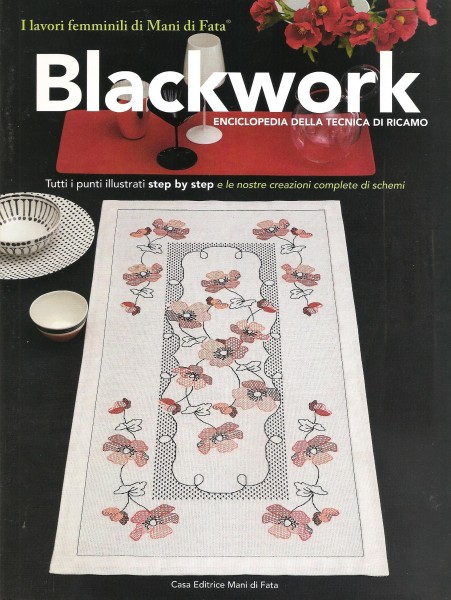 Blackwork -  ENCICLOPEDIA DELLA TECNICA DI RICAMO  - step by stepl