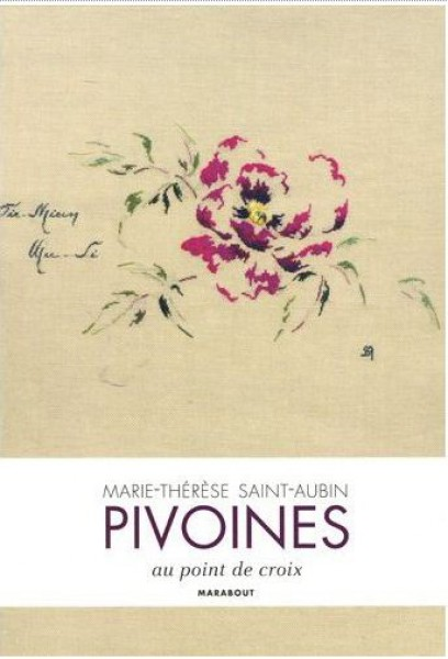 Pivoines au point de croix