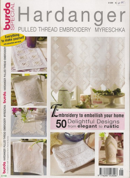 Hardanger Pulled Thread Embroidery Myreschka 50 Delightful Designs
