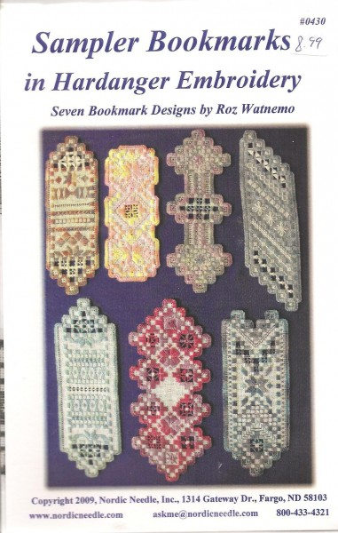 Sampler Bookmarks in Hardanger Embroidery