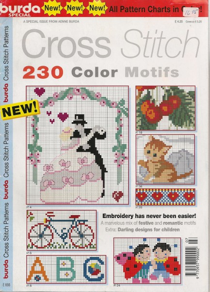 Cross Stitch 230 color motifs