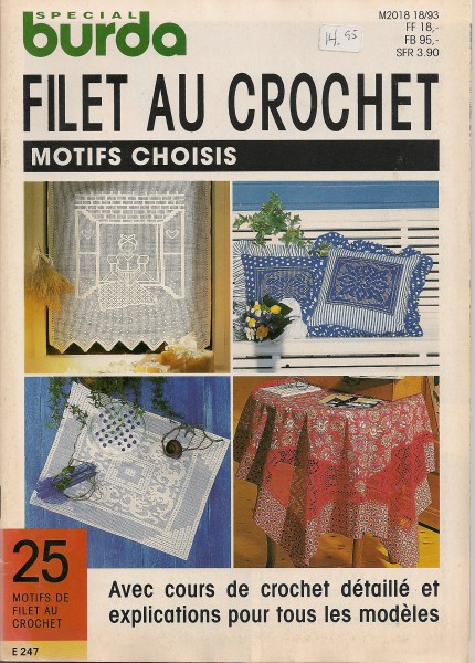 Filet au Crochet Motifs choisis